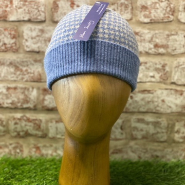 Crail - jacquared hat with turnback, Made in Scotland