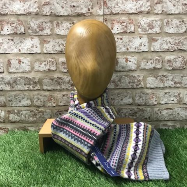 Eden - Fairisle jacquared scarf, Made in Scotland