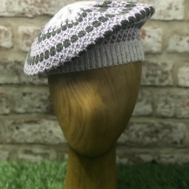 "Fairisle Beret to match scarf featured in ""HARRY POTTER AND THE HALF BLOOD PRINCE"""