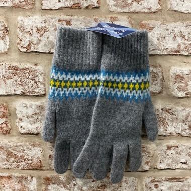 Fairisle ladies lambswool gloves, Made in Scotland