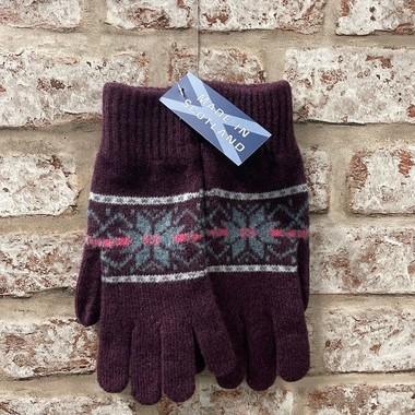 Fairisle ladies lambswool gloves, Made in Scotland (code sale46)