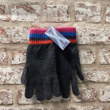 Fairisle ladies lambswool gloves, Made in Scotland (code sale53)