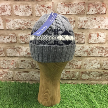 Jacquard cable hat, Made in Scotland