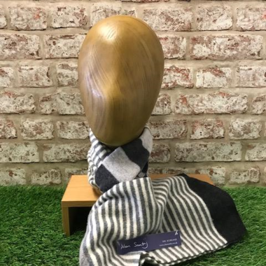 Largo - Men's Felted stripe scarf, Made in Scotland