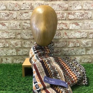 Lindores - Mens tubular fairisle scarf, Made in Scotland