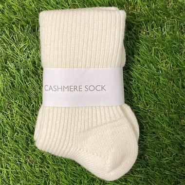 Soft white Cashmere socks
