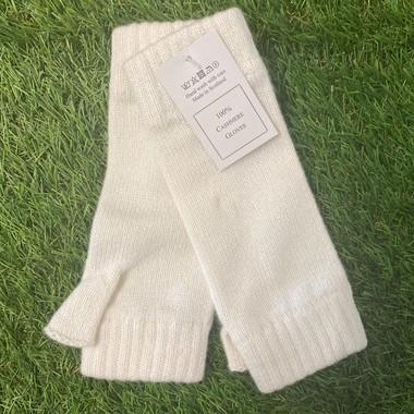 Soft White Cashmere wrist warmers