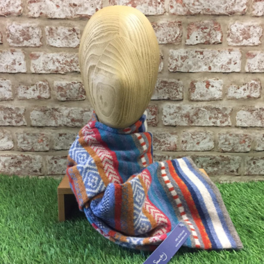 Elie - Tubular dolly mixture scarf, Made in Scotland