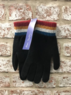 Leven - Plain glove with striped cuff, Made in Scotland  Thumbnail