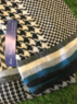 Earlsferry - Mens tubular jacquared scarf, Made in Scotland Thumbnail