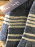 Striped lambswool gloves, Made in Scotland Thumbnail