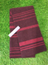 Felted stripe scarf with purl bars, Made in Scotland Thumbnail