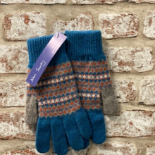 Ceres - Fairisle lambswool gloves, Made in Scotland