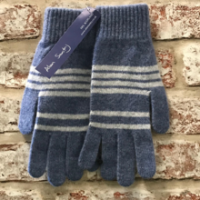 Striped lambswool gloves, Made in Scotland