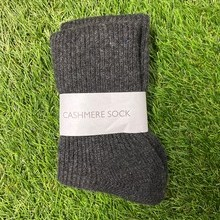 Mens Charcoal Cashmere socks