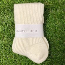 Soft white Cashmere socks